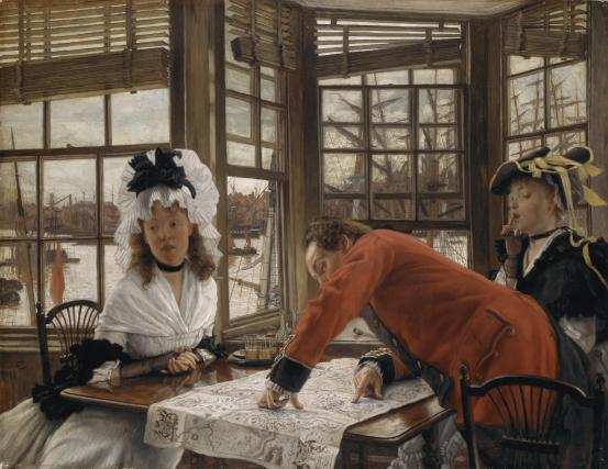 'An Interesting Story', James Tissot c1872, courtesy National Gallery of Victoria