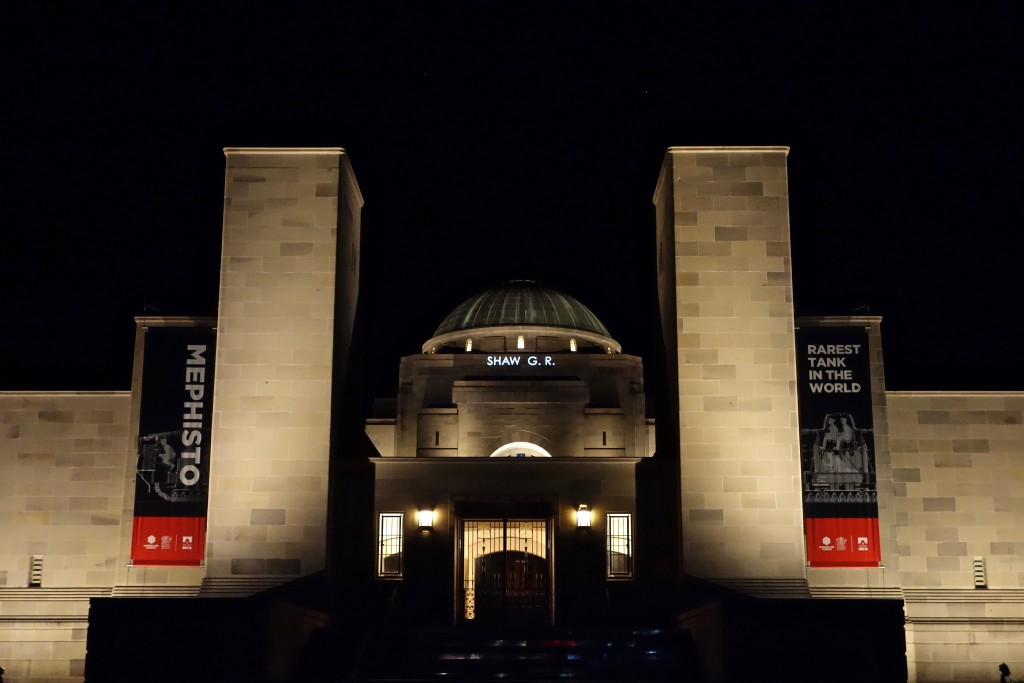 George Ronald Shaw, name projection, Australian War Memorial, 1st March 2016