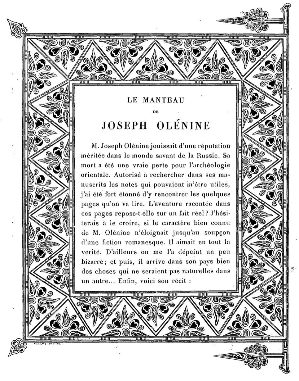 Joseph Olenin's Coat