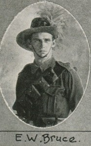 E.W. Bruce one of the soldiers photographed in The Queenslander Pictorial supplement to The Queenslander 1916.
